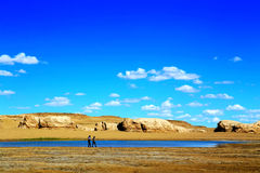 The Water Yardang Devil City, the world`s unique water yardang landform. Located in Qinghai province , China royalty free stock images