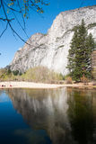 Water in Yosemite park Royalty Free Stock Images