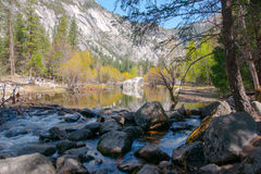 Water in Yosemite park Royalty Free Stock Photo