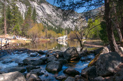 Water in Yosemite park Royalty Free Stock Photography