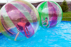 Water Zorbing Royalty Free Stock Images