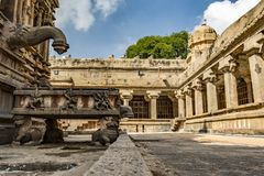 Waterafzet van deity bij Grote Tempel royalty-vrije stock afbeelding