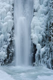 Wateralls frozen in winter Royalty Free Stock Photos