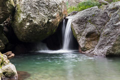 Wateralls. Little waterfall at a peaceful spa called Serendipity in Kingston, Jamaica stock photos