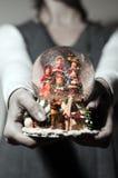 Waterball de la Navidad Fotografía de archivo