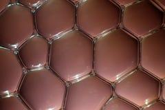 Waterbellen in bruin Stock Foto's