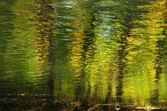 Waterbezinning bij de herfst Royalty-vrije Stock Afbeeldingen