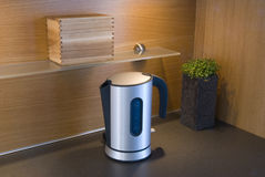 A waterboiler. A stylish water boiler in a kitchen Stock Image