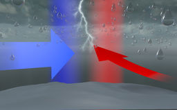 Waterbom, van de het onweersregen van de hemelwolk de dalingsvorming Royalty-vrije Stock Afbeeldingen