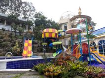 waterboom grand de waterpark de paradis à Bandung Indonésie Image libre de droits