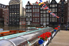 Waterboten in Amsterdam Royalty-vrije Stock Afbeelding