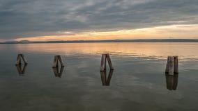 Waterbreak στη λίμνη neusiedl Στοκ εικόνα με δικαίωμα ελεύθερης χρήσης