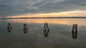 Waterbreak в озере neusiedl Стоковое Изображение RF