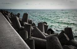 Waterbreak concreto fotografia de stock