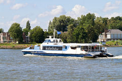 Waterbus on the river Merwekade Stock Photo