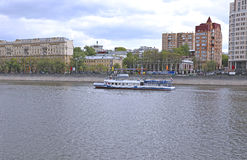 Waterbus sailing along the Moscow river Stock Image