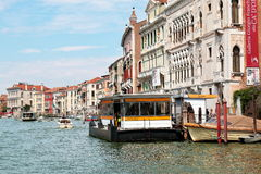 Waterbus stop Ca'D'Oro in Venice, Italy Stock Image