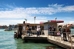 Waterbus stop in Venice Royalty Free Stock Images