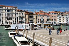 Waterbus stop in Venice Stock Image