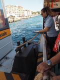 Waterbus stopp i Venedig Arkivbilder