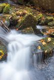 Watercascades bij Estatoe-Dalingen van Rosman, Noord-Carolina stock foto's