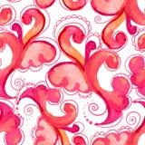 Waterclour paisley seamless pattern Stock Image