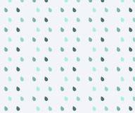 Χαριτωμένο άνευ ραφής σχέδιο Άνευ ραφής σχέδιο βροχής watercolor Μπλε σταγόνες βροχής Άνευ ραφής σχέδιο βροχής με την πτώση Σχέδι διανυσματική απεικόνιση