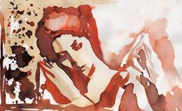 watercolor αγγέλου Στοκ Εικόνες