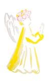 Watercolor αγγέλου Πάσχας που απομονώνεται Στοκ Φωτογραφία