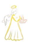 Watercolor αγγέλου Πάσχας που απομονώνεται Στοκ φωτογραφία με δικαίωμα ελεύθερης χρήσης