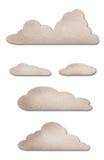 watercolor εγγράφου σύννεφων Στοκ Εικόνες