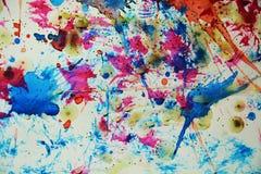 Watercolor κέρινο υπόβαθρο μορφών σημείων κόκκινο ζωηρόχρωμο λαμπιρίζοντας ζωηρό Στοκ εικόνα με δικαίωμα ελεύθερης χρήσης