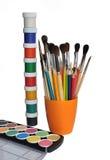 Watercolor και βούρτσες. στοκ εικόνες με δικαίωμα ελεύθερης χρήσης