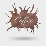 Watercolor καφέ Στοκ εικόνα με δικαίωμα ελεύθερης χρήσης
