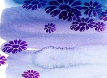 watercolor λουλουδιών Στοκ φωτογραφίες με δικαίωμα ελεύθερης χρήσης