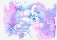 Μπλε σύσταση Watercolor ελεύθερη απεικόνιση δικαιώματος