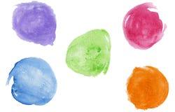 watercolor σταγόνων Στοκ Φωτογραφία