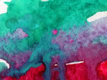 Watercolor τέχνης ζωηρόχρωμο κατασκευασμένο υγρό πλύσιμο θαλάσσιου νερού επιφάνειας υποβάθρου αφηρημένο που θολώνεται Στοκ εικόνα με δικαίωμα ελεύθερης χρήσης