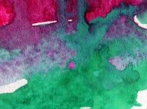 Watercolor τέχνης ζωηρόχρωμο κατασκευασμένο υγρό πλύσιμο νερού παραλιών επιφάνειας υποβάθρου αφηρημένο που θολώνεται Στοκ Εικόνες