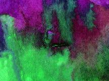 Watercolor τέχνης ζωηρόχρωμο κατασκευασμένο υγρό πλύσιμο νερού παραλιών επιφάνειας υποβάθρου αφηρημένο που θολώνεται Στοκ φωτογραφίες με δικαίωμα ελεύθερης χρήσης