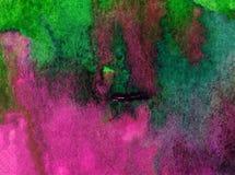 Watercolor τέχνης ζωηρόχρωμο κατασκευασμένο υγρό πλύσιμο νερού παραλιών επιφάνειας υποβάθρου αφηρημένο που θολώνεται Στοκ φωτογραφία με δικαίωμα ελεύθερης χρήσης