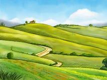 watercolor τοπίων ελεύθερη απεικόνιση δικαιώματος