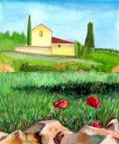 watercolor τοπίων Απεικόνιση αποθεμάτων