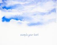 Watercolor υποβάθρου ουρανού «που χρωματίζεται Στοκ εικόνα με δικαίωμα ελεύθερης χρήσης