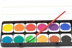 watercolor χρωμάτων βουρτσών Στοκ Εικόνες