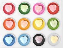 watercolor χρωμάτων καρδιών Στοκ φωτογραφίες με δικαίωμα ελεύθερης χρήσης