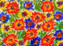 watercolor χρωμάτων λουλουδιών ανασκόπησης διανυσματική απεικόνιση