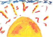 watercolor χρωμάτων παιδιών Στοκ φωτογραφία με δικαίωμα ελεύθερης χρήσης