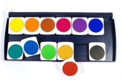 watercolor χρωμάτων Στοκ εικόνες με δικαίωμα ελεύθερης χρήσης