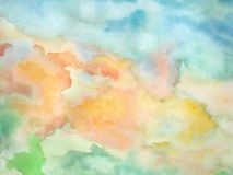 Watercolor 02. Handmade watercolor painting for background Royalty Free Stock Images
